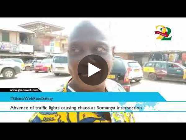 #GhanaWebRoadSafety: Absence of traffic lights causing chaos at Somanya intersection