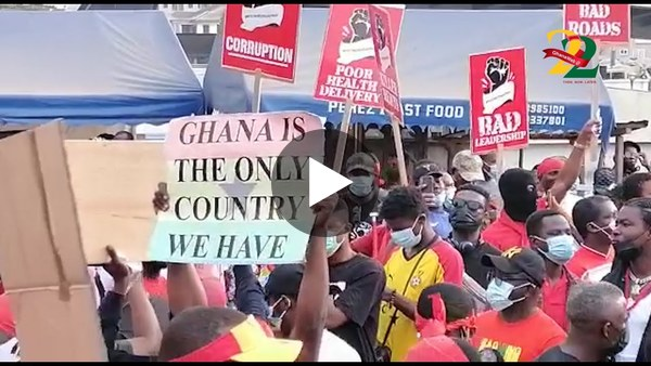 #FixTheCountry demo: Concerned Ghanaians protest for better conditions in the country