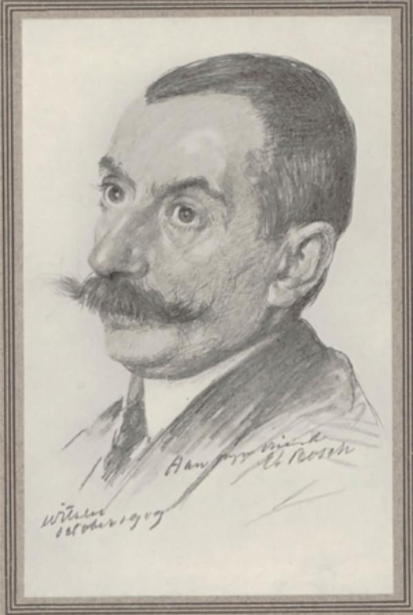 Portret van Etienne Bosch, in 1910 getekend door Willem Witsen voor tijdschrift Onze Kunst