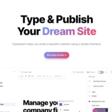 Type & Publish Your Dream Site