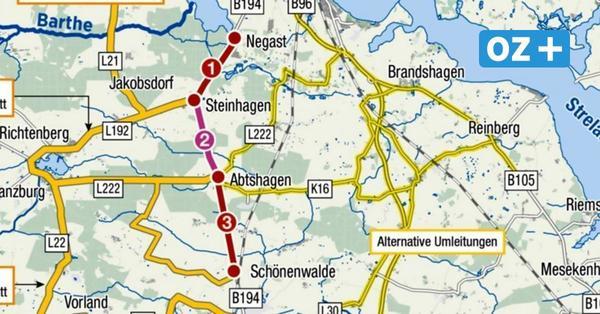 Grimmen:Auf der B 194 nach Stralsund wird ab September gebaut