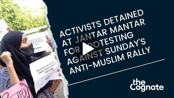 Delhi Police Detain Activists For Protest Against Sunday's Anti-Muslim Rally