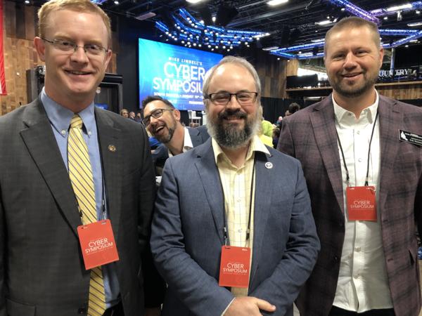 Me (center) with Alaska Rep. David Eastman (left) and Minnesota Rep. Eric Mortensen (right)