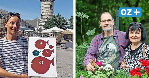 Kunst und Kultur vor dem Warnemünder Leuchtturm und im Kritzmower Garten