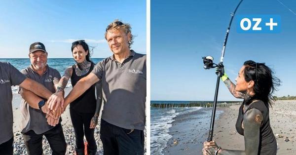 """Strandangeln in Rostock: Die """"Beach Brothers"""" werfen gut 180 Meter weit"""