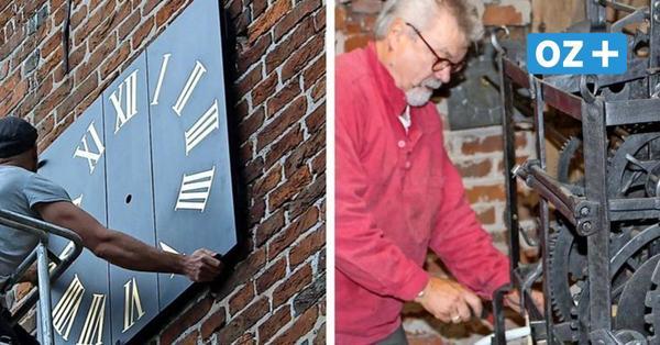 Kirchturmuhr in Herrnburg zeigt erstmals seit Jahrzehnten wieder die Zeit an