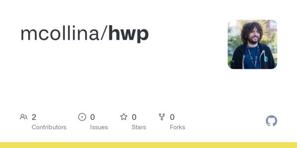 GitHub - mcollina/hwp