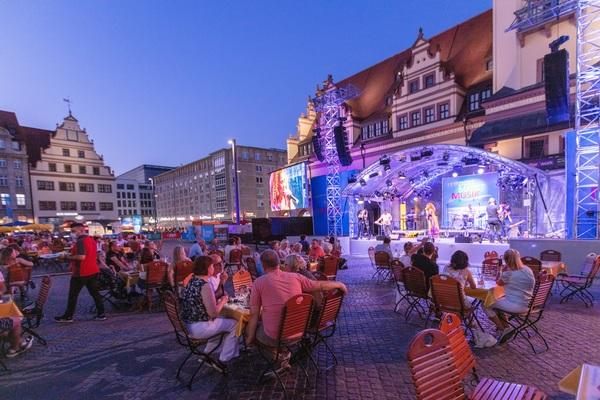 Die Leipziger Markt Musik geht auch am Wochenende weiter. Foto: Christian Modla