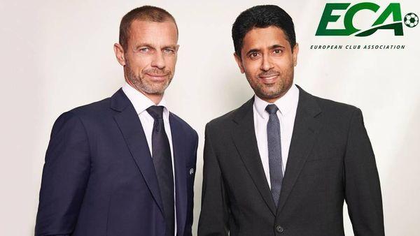 Ceferin y Al-Khelaifi, UEFA y ECA