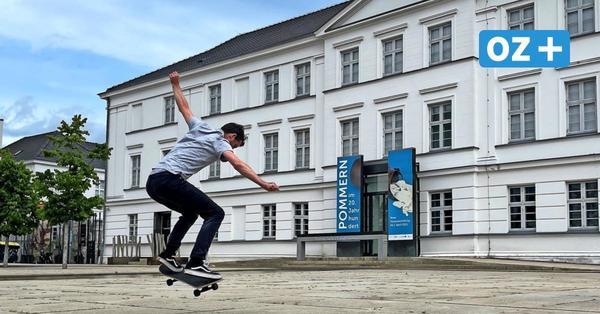 Greifswald: Skaten verboten am Pommerschen Landesmuseum