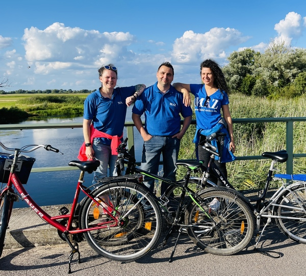 Nadine Bieneck, Sebastian Morgner und Christin Schmidt (v.l.). (Foto: MAZ)