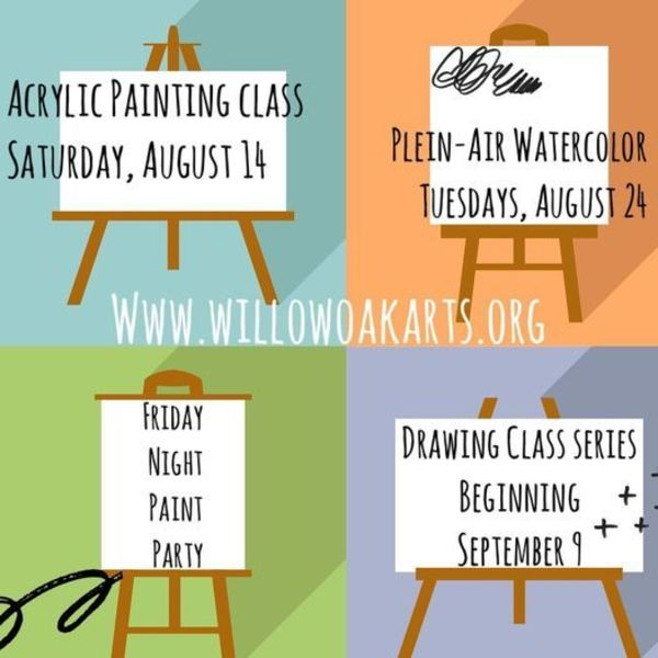 Check out Willow Oak Center for Arts & Learning for more upcoming classes & events!!
