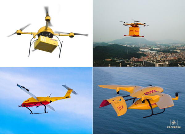Four Generations of the DHL Parcelcopter