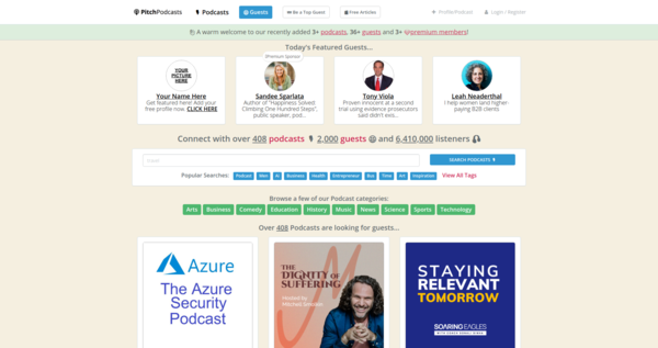Connect with over 408 podcasts 🎙️ 2,000 guests 😃 and 6,410,000 listeners 🎧