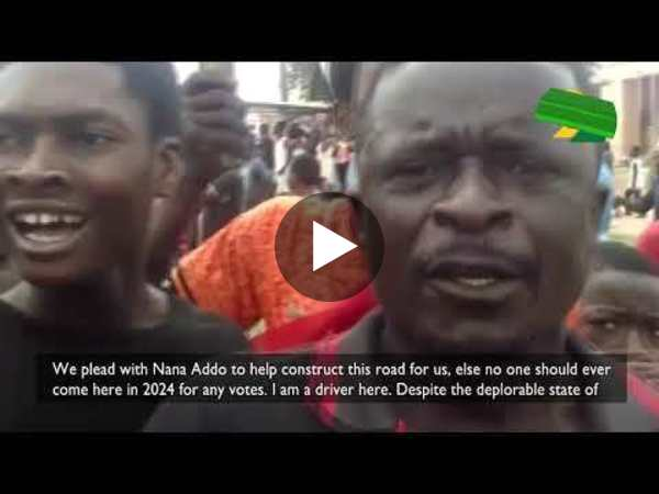 Adwumam residents angry about deplorable state of their roads