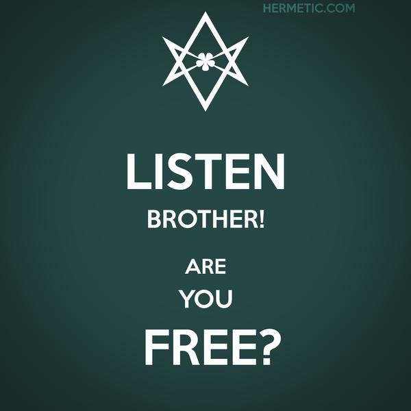 Unicursal ARE YOU FREE Propaganda Poster