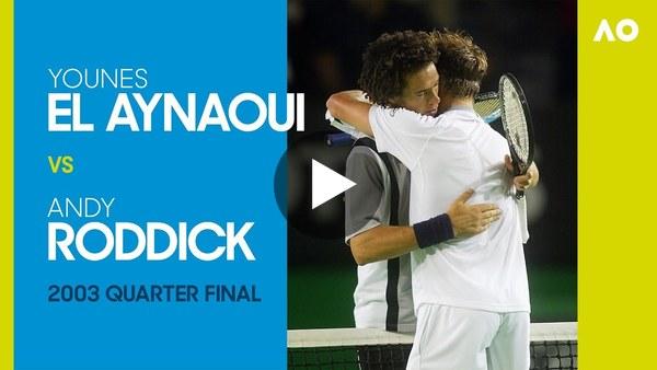 Younes El Aynaoui vs Andy Roddick in a five-set, five-hour epic! | Australian Open 2003 Quarterfinal