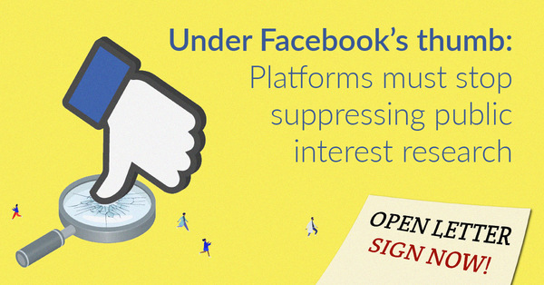 Use the Digital Services Act (DSA) to Stop Platforms from Suppressing Public Interest Research - AlgorithmWatch