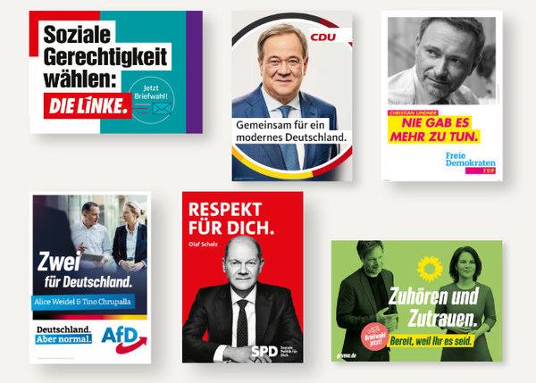 Die Plakate zur Bundestagswahl 2021 – Design Tagebuch