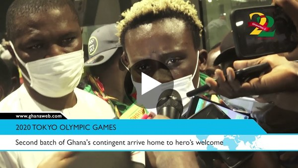 Second batch of Ghana's contingent arrive home to hero's welcome