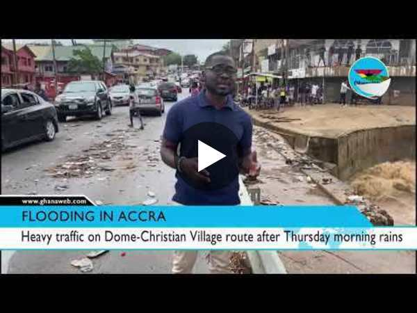 Heavy traffic on Dome Christian Village route after Thursday morning rains
