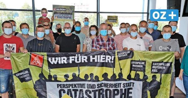 """""""Wir hängen in der Luft"""": Rostocker Caterpillar-Werker wollen um ihre Jobs kämpfen"""