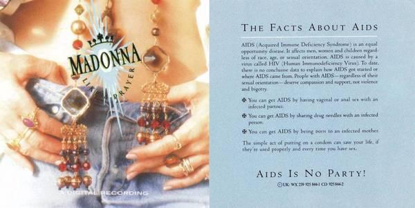 """Portada de """"Like a Prayer"""" y flyer que venía incluido con el CD."""