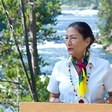 In Yellowstone, Haaland recognizes threats to park, ecosystem