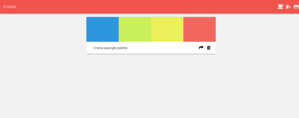 Simple color palette manager and color picker made for designers