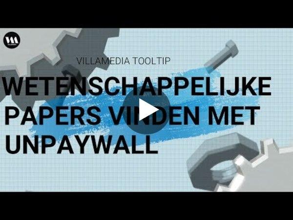 Villamedia Tooltip -  Wetenschappelijke papers vinden met Unpaywall