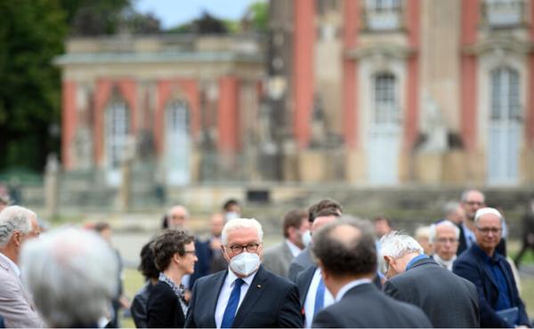 Bundespräsident Steinmeier am Neuen Palais. Foto: Soeren Stache