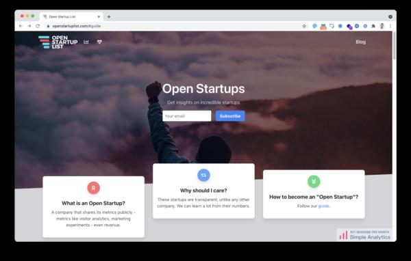 Trends: Open Startups