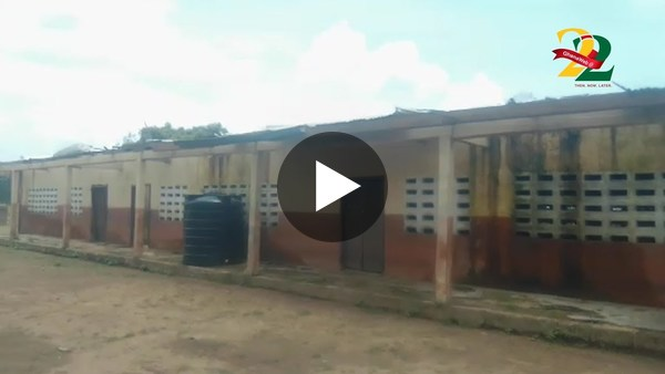 3-unit classroom block left to rot at Mion following rainstorm