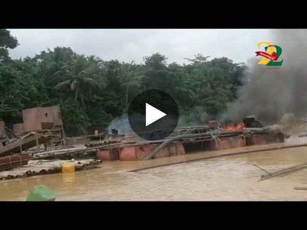 Nzema East Task Force destroys Chanfang machines on Ankobra River