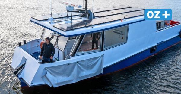 Ostseestaal aus Stralsund: Elektro-Solar-Fähre wird am Donnerstag nach Usedom überführt