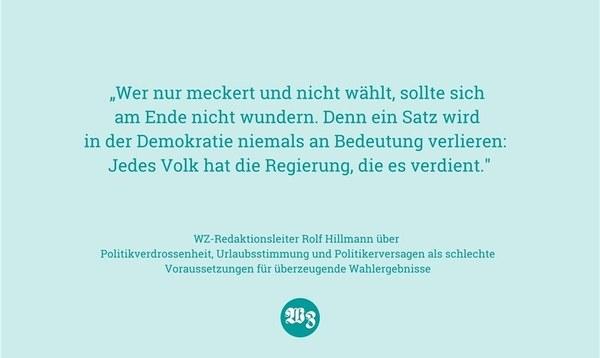 Von Wahlstress, Bürgerpflicht und blutig erkämpftem Recht - Heidekreis - Walsroder Zeitung