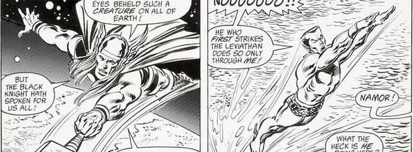 John Buscema - Avengers Original Comic Art