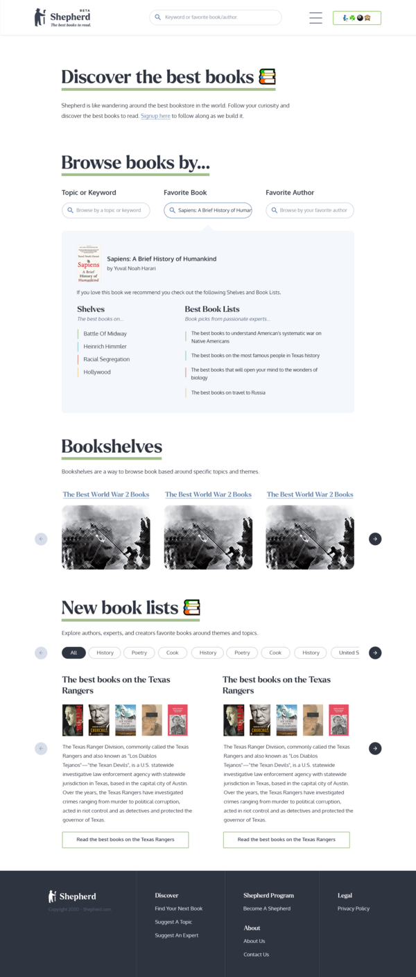 Mockup of the new front page and search feature coming later this year.