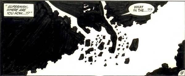 John Byrne - Superman Original Comic Art
