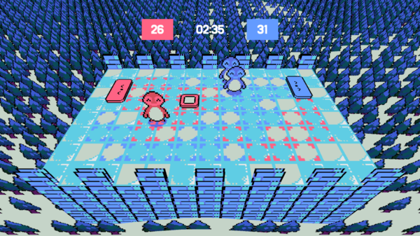 Gameplay screenshot of Ponguin!