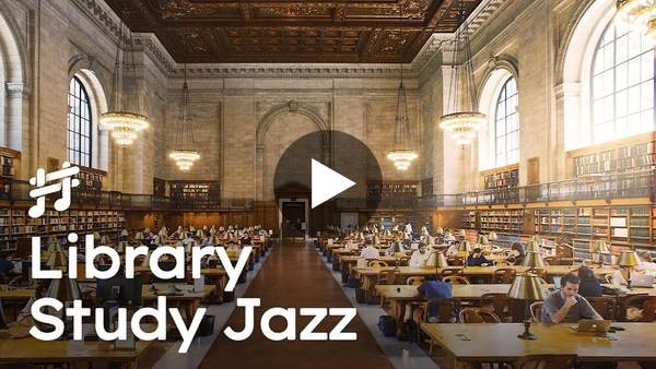 Study Jazz  - Relaxing Piano Jazz for Study, Work, Reading in Library ASMR