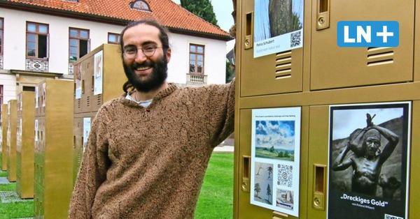 Eutin: Goldene Spinde von Merabi Danelia zeigen Kunst im Atelier