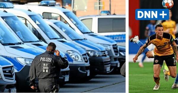 Ausschreitungen vor Spiel von Dynamo Dresden bei Hansa Rostock in der 2. Bundesliga