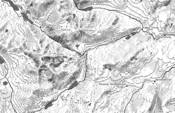 How to create a tasty monochrome hachure map in QGIS