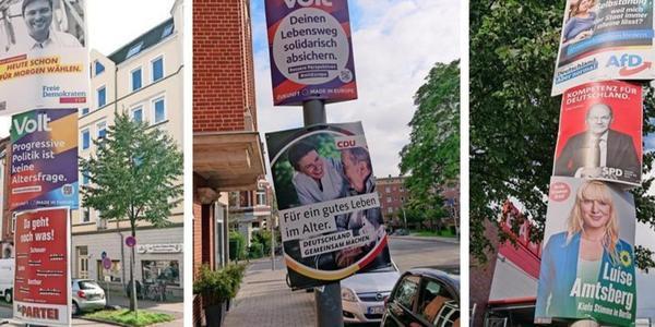 KN-Wahlplakate-Quiz zur Bundestagswahl: Welcher Spruch gehört zu welcher Partei?