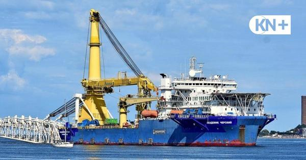 Nordstream-Schiff steuert Hafen Kiel an
