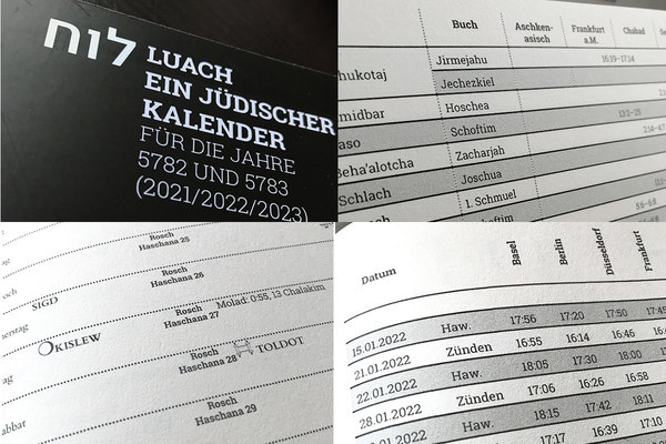 Luach. Ein jüdischer Kalender für die Jahre 5782 und 5783