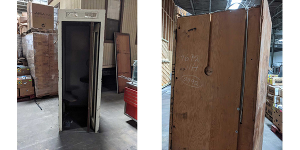 The old booth was stored in a warehouse for decades and was in pretty rough shape.