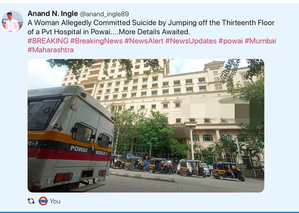 Why no Media has covered the Hiranandani Hospital Suicide Case?