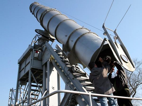 Das größte Brachymedial-Fernrohr der Welt steht in Rathenow. (Foto: Markus Kniebeler)